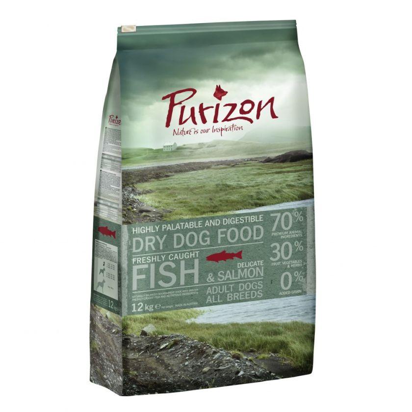 4kg Adult poisson sans céréales Purizon - Croquettes pour chien