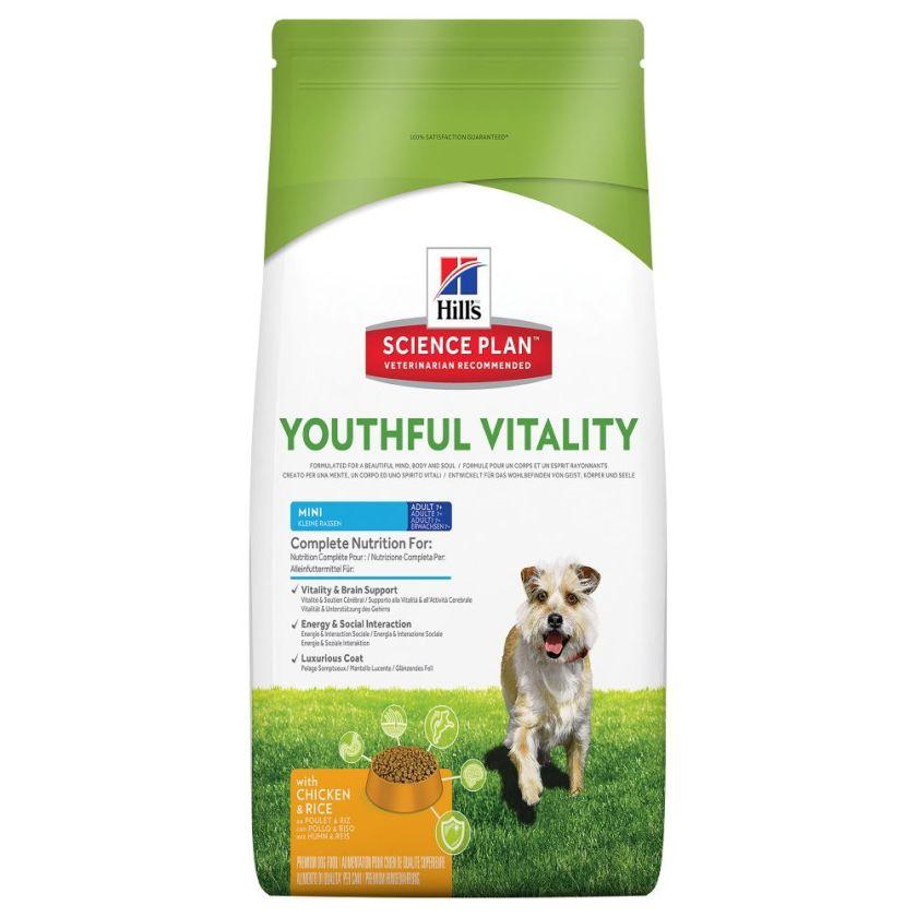 Hill´s Science Plan Canine 7+ Youthful Vitality Mini poulet, riz - 6 kg