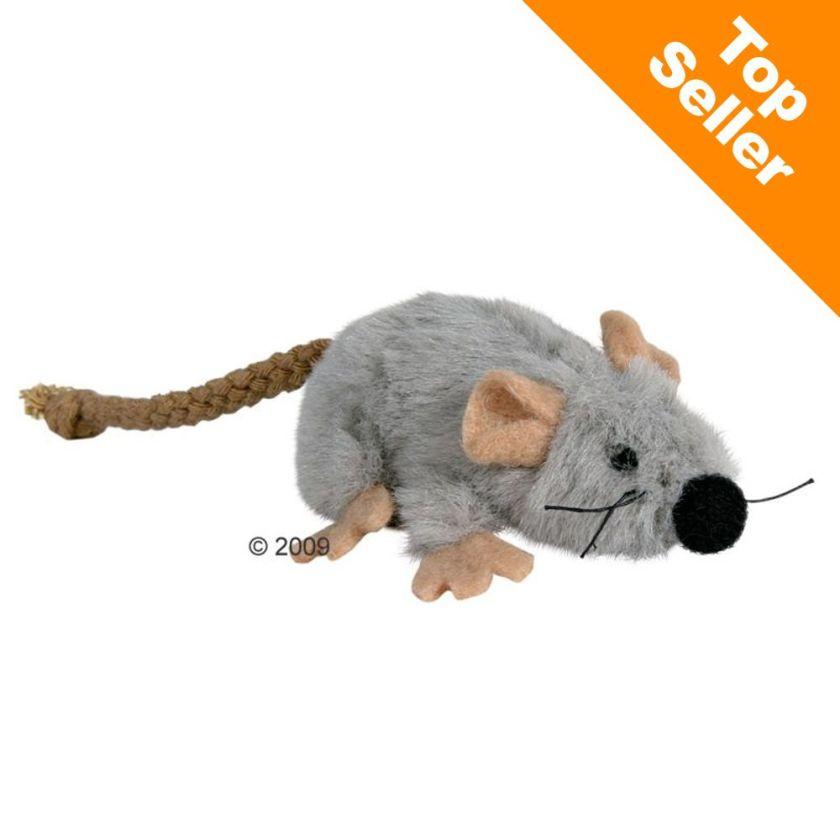 Souris en peluche Trixie avec menthe à chat - lot de 3 souris