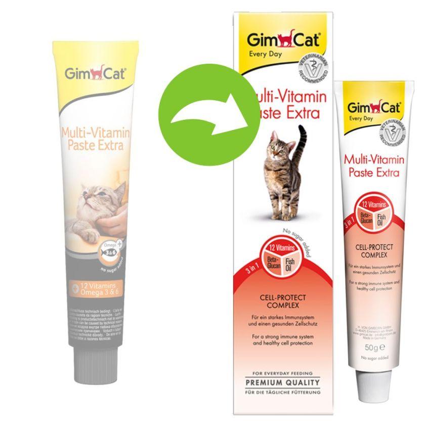 2x50g GimCat Extra Pâte multivitaminée pour chat - Friandises pour chat