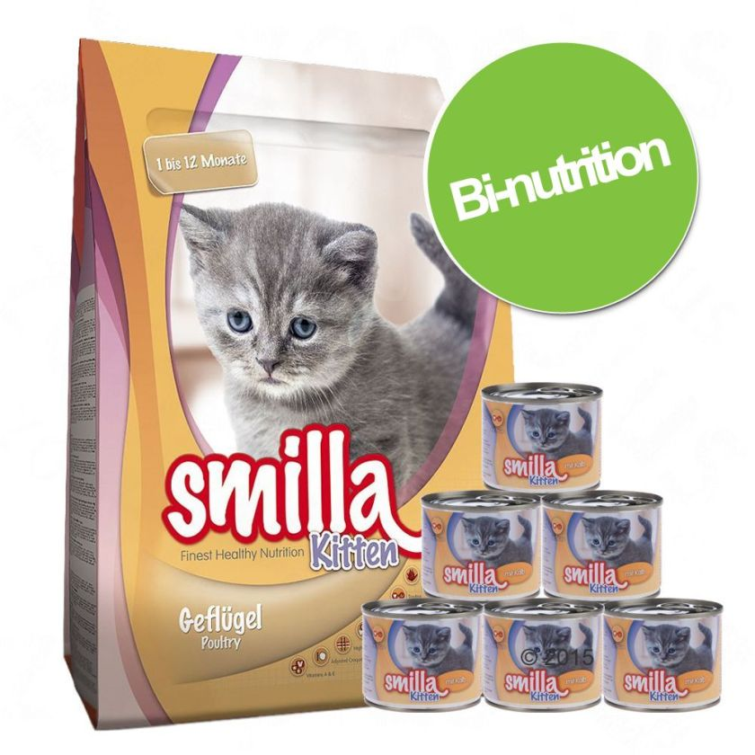Pack bi-nutrition : croquettes + boîtes Smilla Sélection Kitten pour chaton - sélection Kitten pour chaton