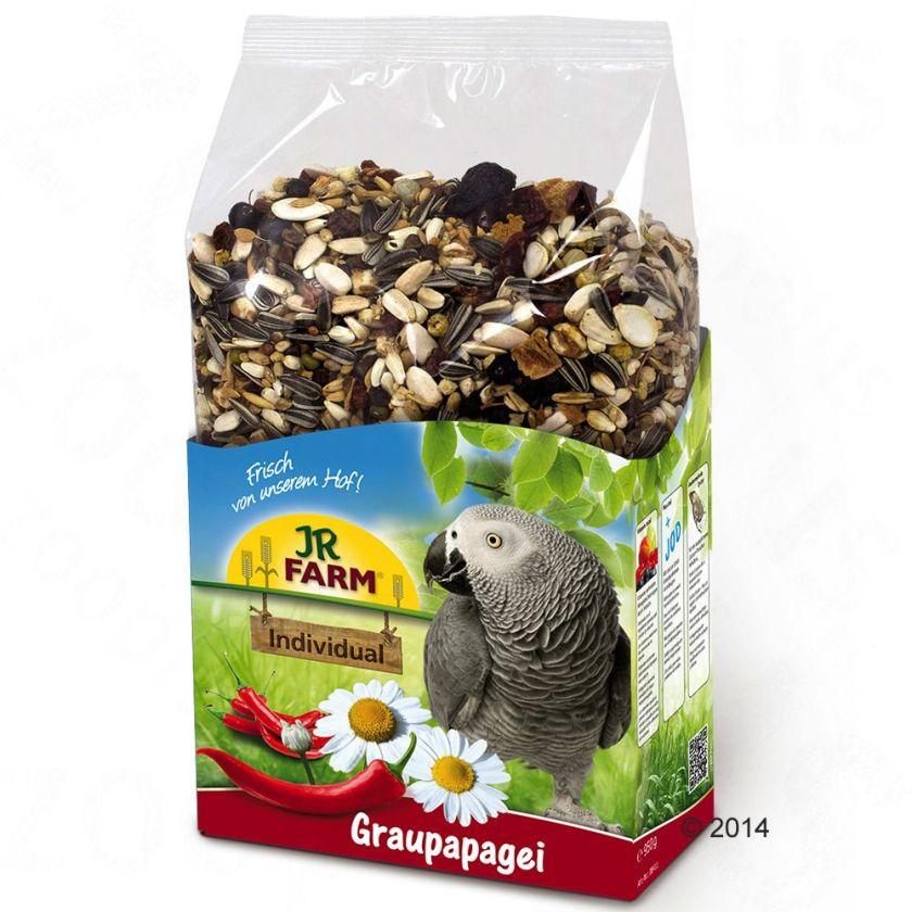 JR Farm Individual pour perroquet gris - 2 x 950 g