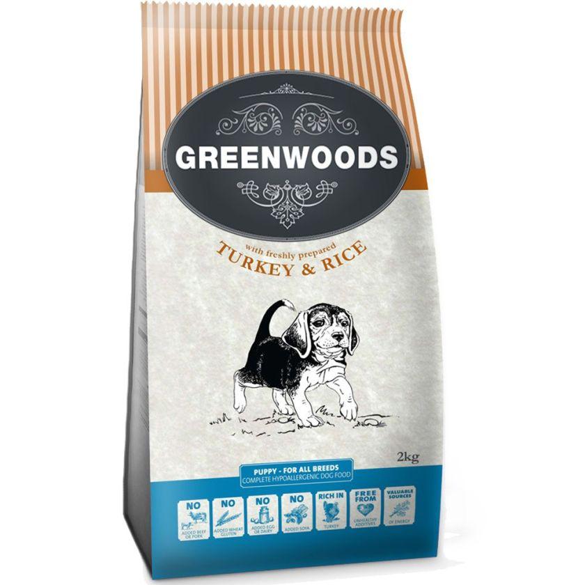12kg Puppy dinde riz Greenwoods - Croquettes pour Chien