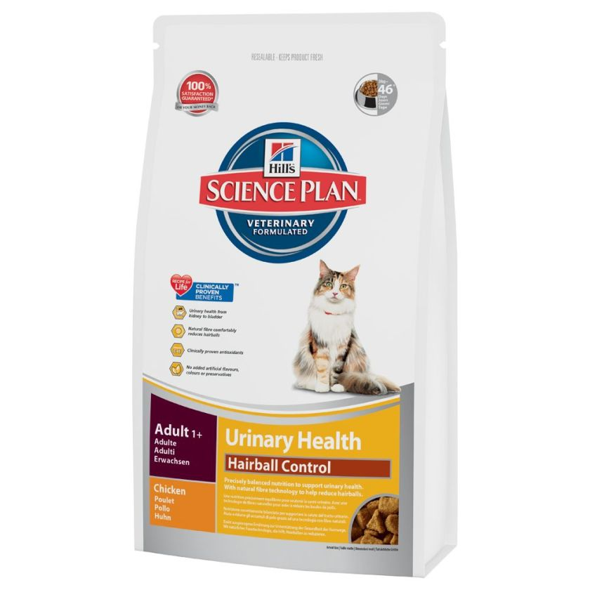 Hill´s Science Plan Feline Adult Urinary & Hairball Control - 1,5 kg
