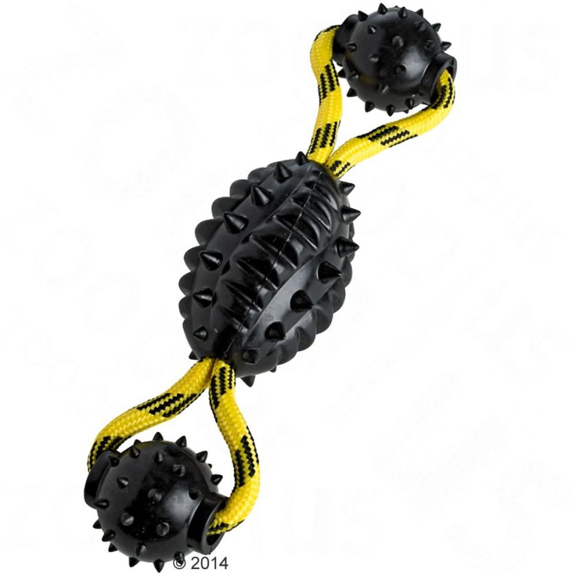 Jouet HUNTER Spike Ball avec corde pour chien - L 30 x 7 cm de diamètre