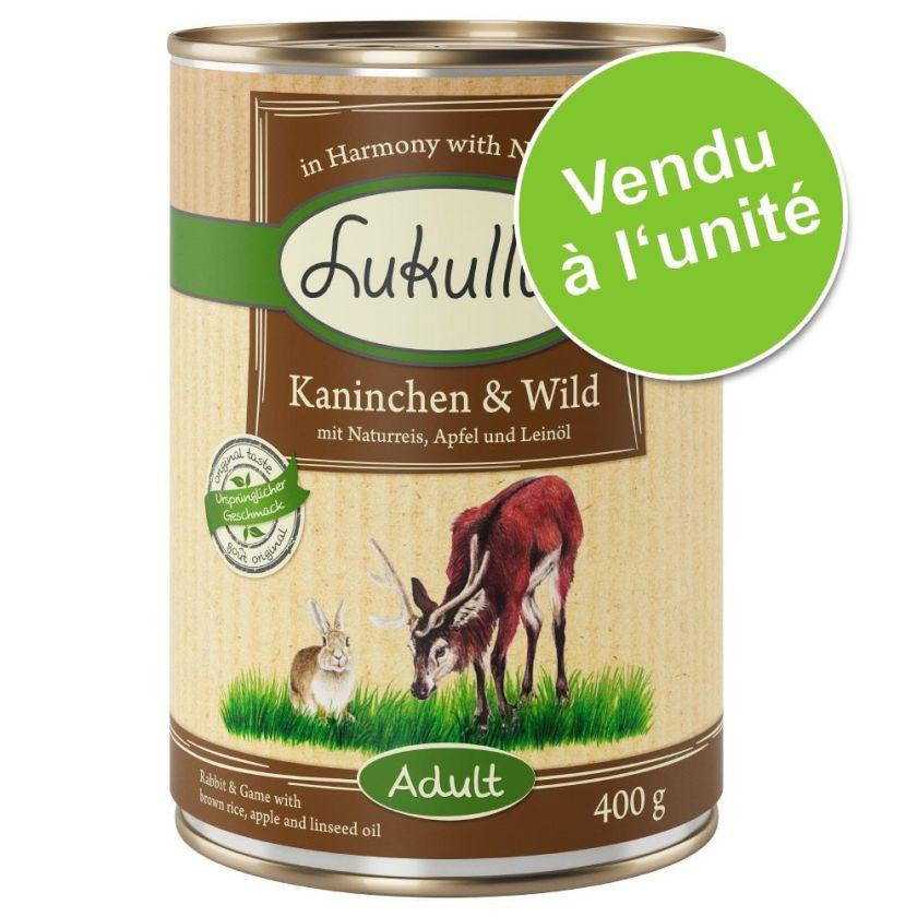 1x400g lapin, gibier Lukullus - Nourriture pour chien
