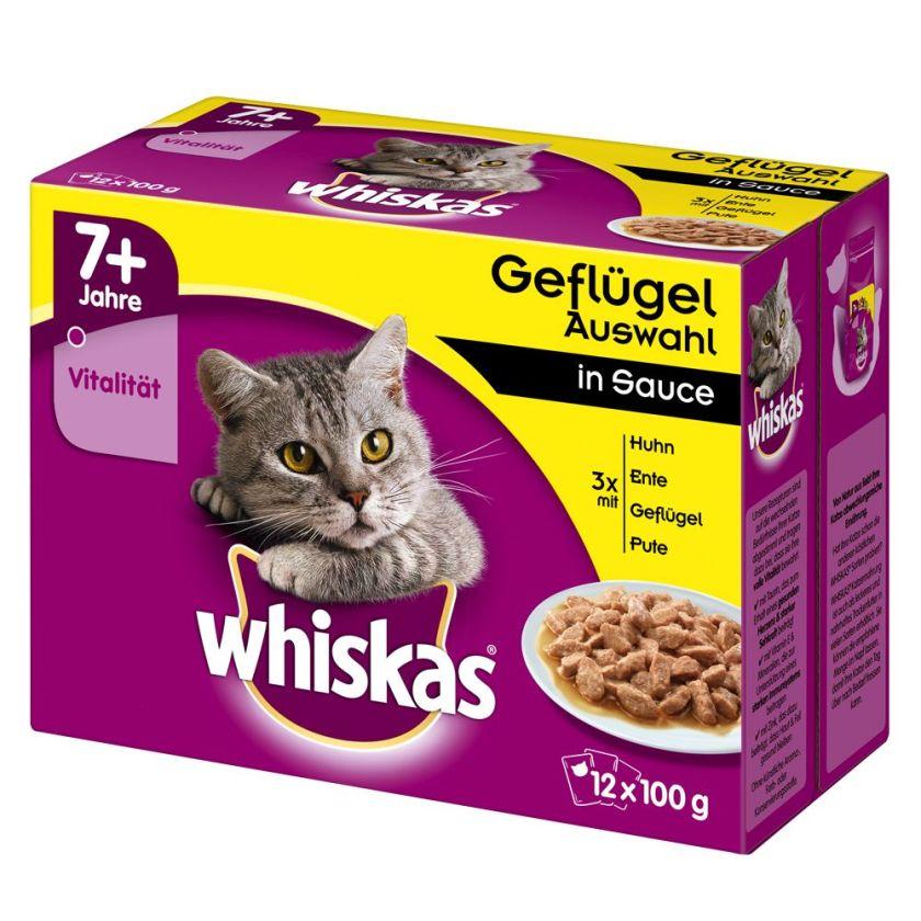 12x100g Sélection classique en gelée Whiskas 7+ Senior - Sachet fraîcheur pour chat