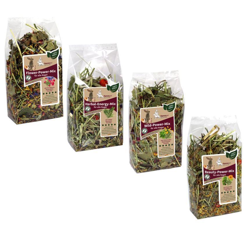 Lot Hansepet Flower Mix pour lapin et rongeur - 400 g (4 variétés)
