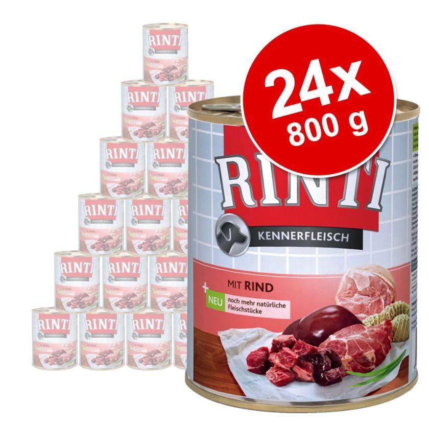 Lot Rinti 24 x 800 g pour chien - poisson de mer