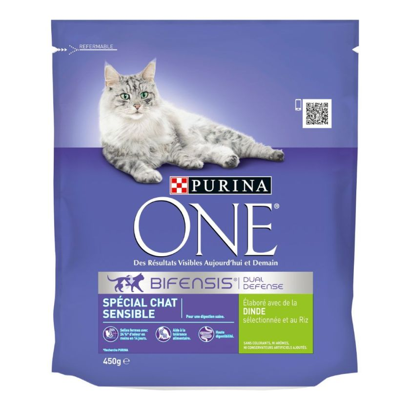 450g dinde Chat Sensible PURINA ONE - Croquettes pour chat