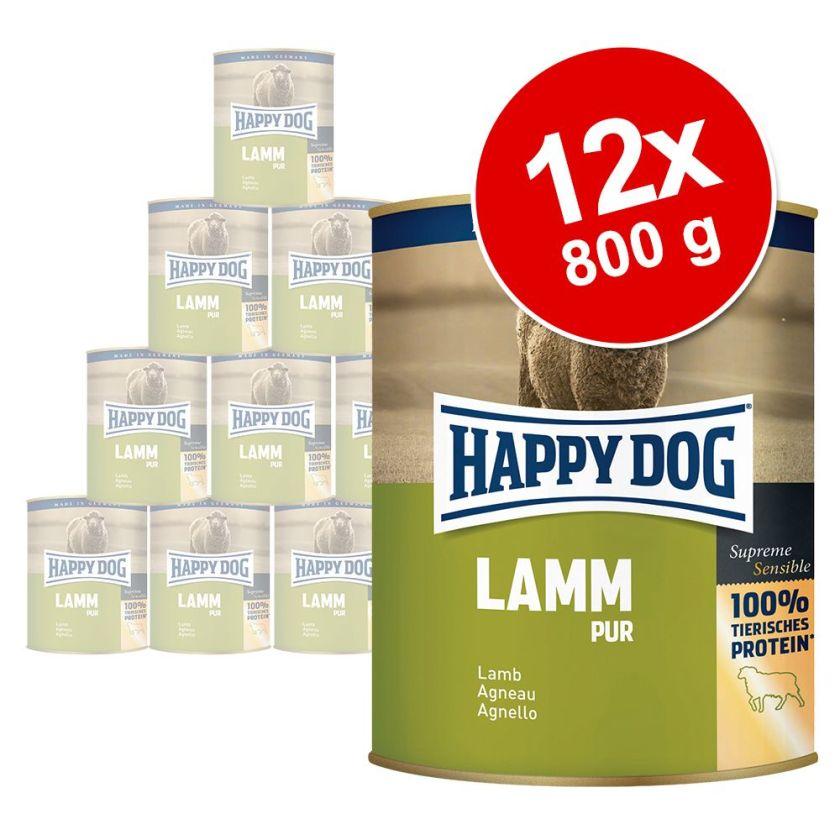 12x800g pur buffle Happy Dog - Nourriture pour chien