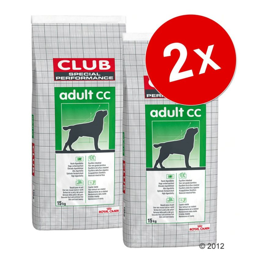 Lot Royal Canin Club/Selection pour chien - Adult Trad (2 x 15kg)
