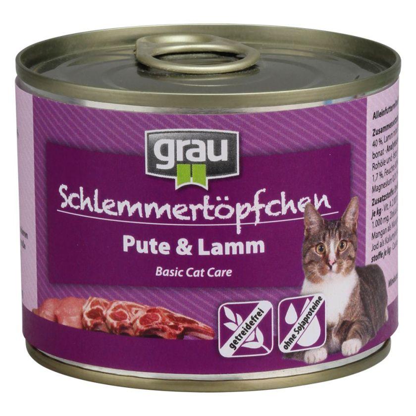 6x200g volaille, poisson Grau Menu gourmand sans céréales - - Nourriture pour Chat