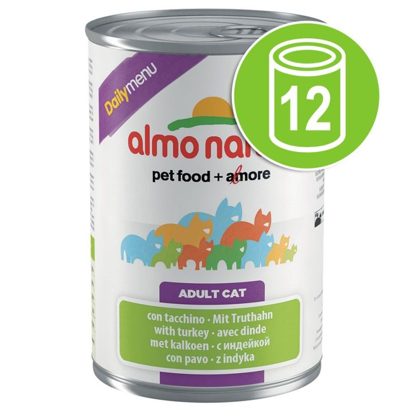 12x400g lapin Almo Nature Daily Menu - Nourriture pour Chat