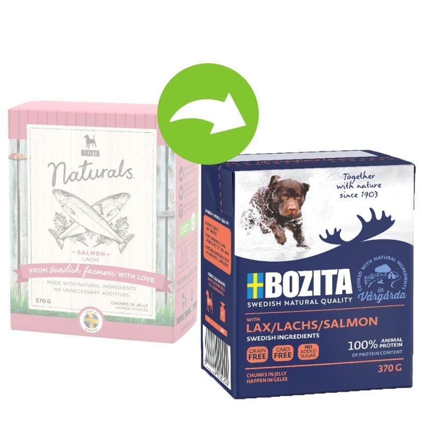 24x370g renne Bouchées en gelée Bozita - Nourriture pour chien