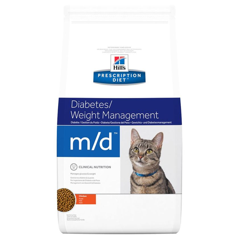 2x5kg m/d Hill's Prescription Diet Feline Croquettes pour chat