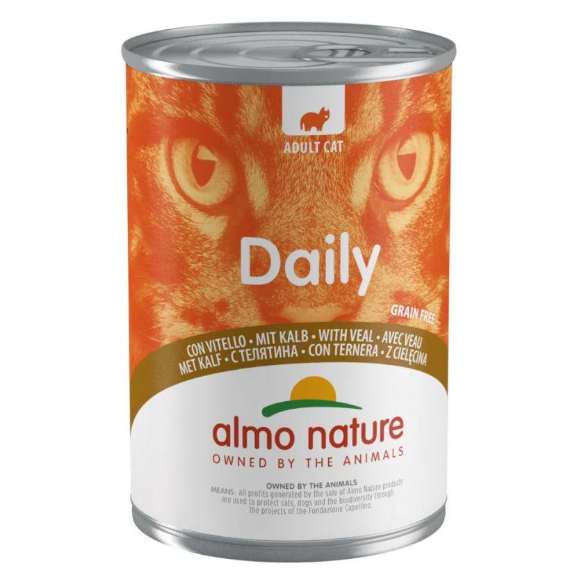 6x400g veau Almo Nature Daily Menu - Nourriture pour Chat