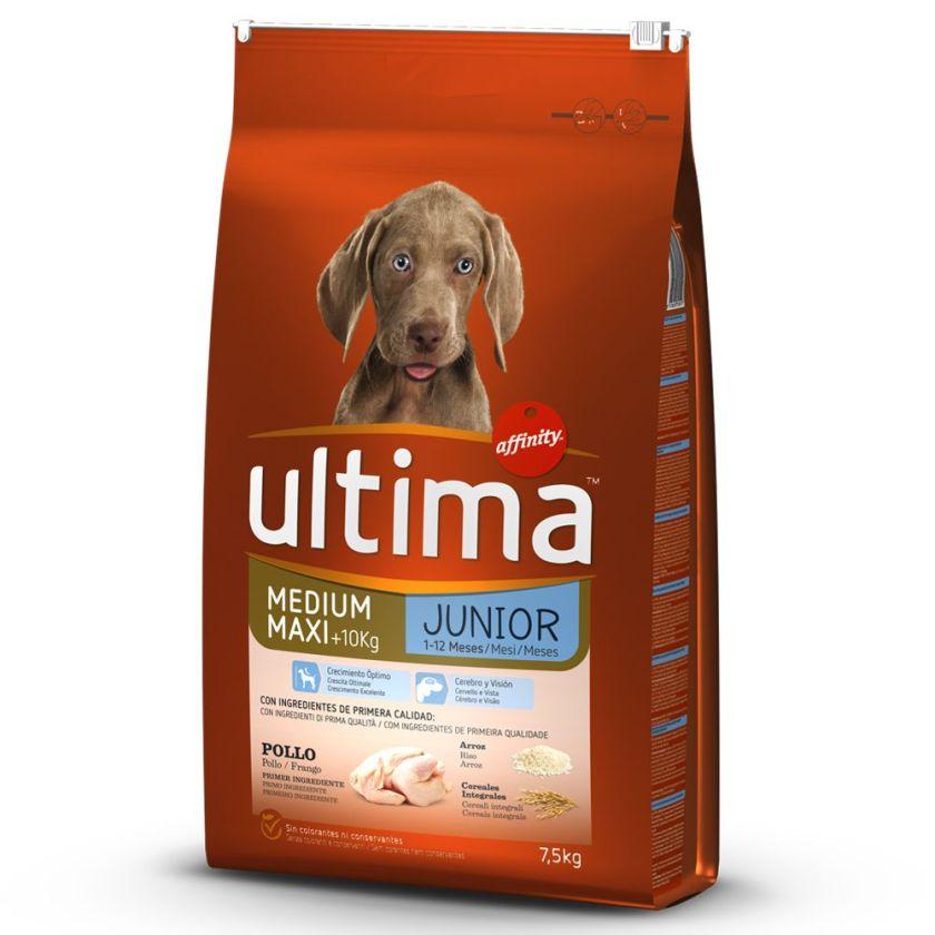 2x12kg Medium / Maxi Junior poulet Ultima - Croquettes pour chien