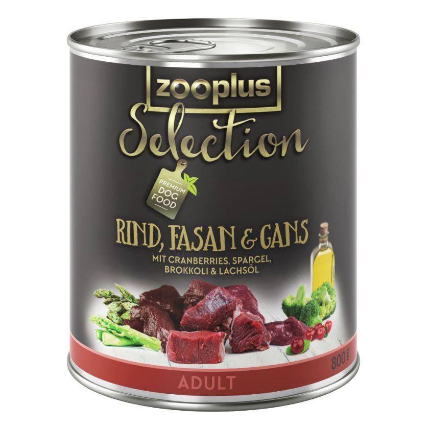 zooplus Selection Adult Bœuf, faisan, oie pour chien - 24 x 800 g