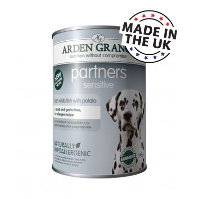 6x395g Partners Sensitive Arden Grange - Aliment pour Chien