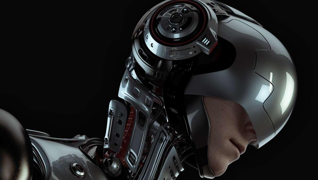 Futuristic Knight Helmet