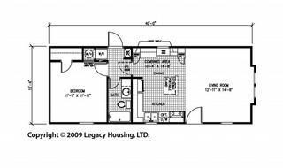 Double Wide Floor Plans 2 Bedroom Four Mobile Homes L 4