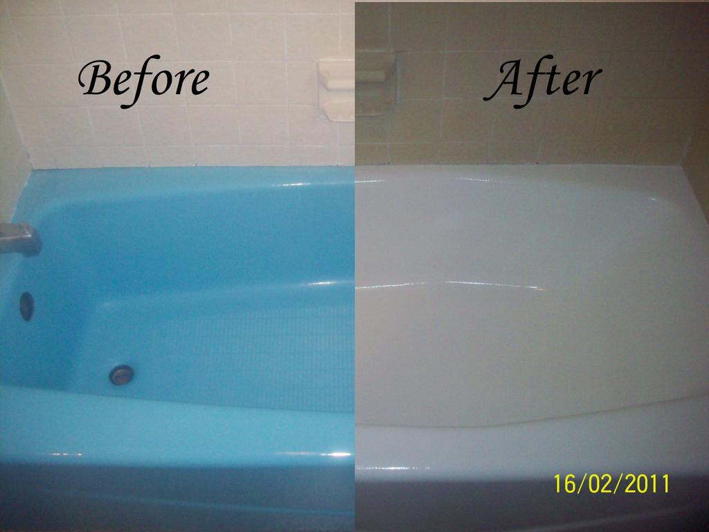 Bathtub Resurfacing Before And Afterjpg From Dennies