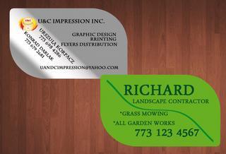 Leaf shaped business cards zoshwiki leaf shaped business cards printing u c impression inc in des colourmoves
