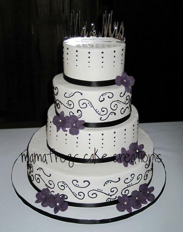 Sherisses Blog Beautiful Black White And Purple Wedding