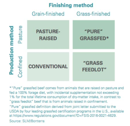beef types by production and finishing method