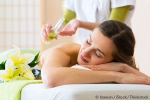 peppermint oil massage theraphy