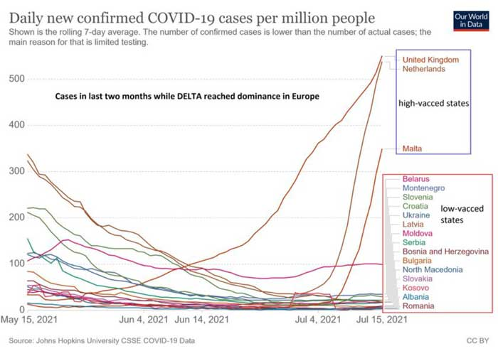daily new confirmed covid 19 cases per million people COVID Injection Failure