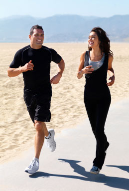 Jogging boosts energy