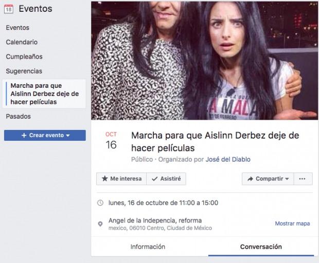 Marcha en contra de hija Eugenio Derbez