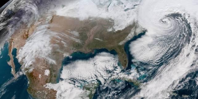 NASA difunde impresionante imagen de la tormenta en EU