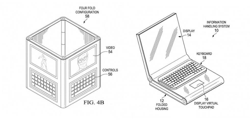 Inconcebible: Dell podría lanzar un dispositivo con cuatro pantallas plegables