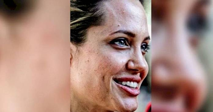 Filtered photo of Angelina Jolie without makeup, and their fans are speechless