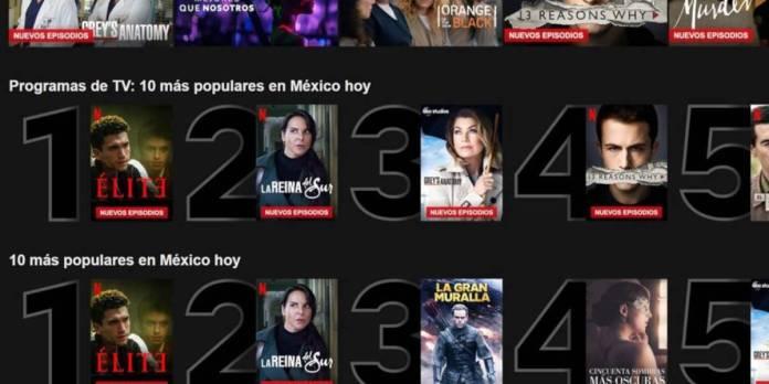 Netflix por fin libera globalmente listas de Top 10 por cada país
