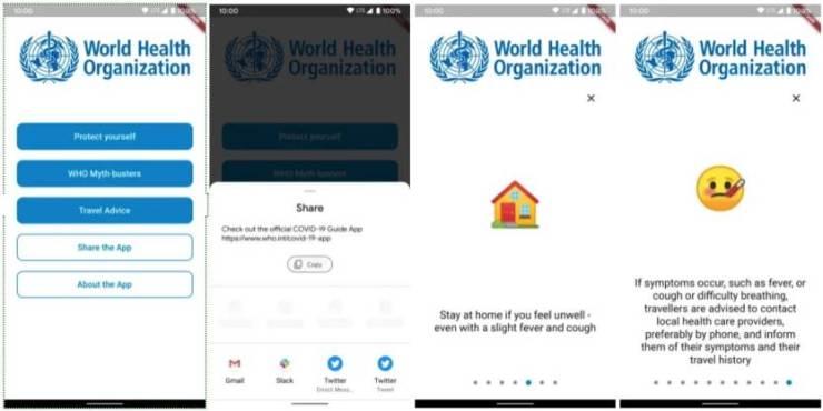 Coronavirus: OMS desarrolla app oficial sobre el COVID-19