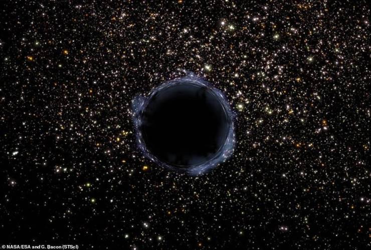 Espacio: telescopio Hubble de la NASA detecta agujero negro gigante
