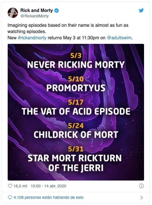 Rick y Morty episodios