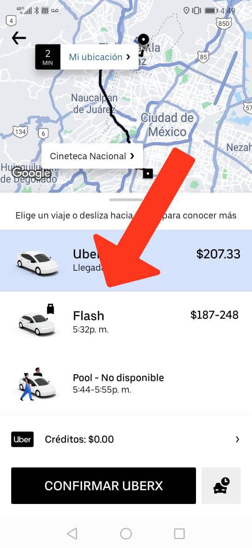 Uber Flash México Chile