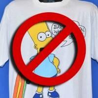 Los Simpson: escuelas de Estados Unidos prohibieron playeras de Bart en los 90's