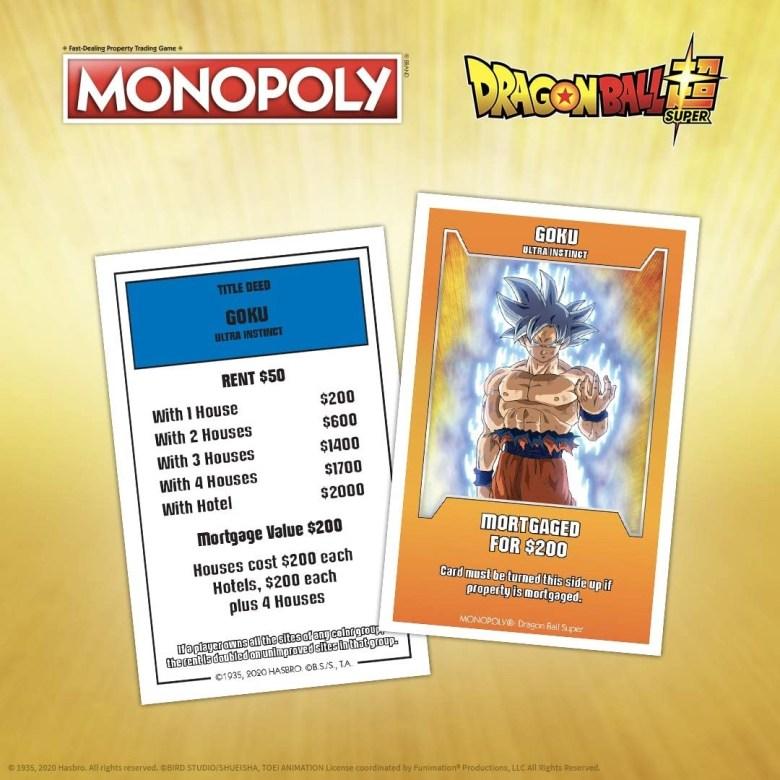 La gente de Monopoly ha creado una edición de su juego de mesa inspirada en el universo de Dragon Ball Super. Si, es tan raro como se lee.