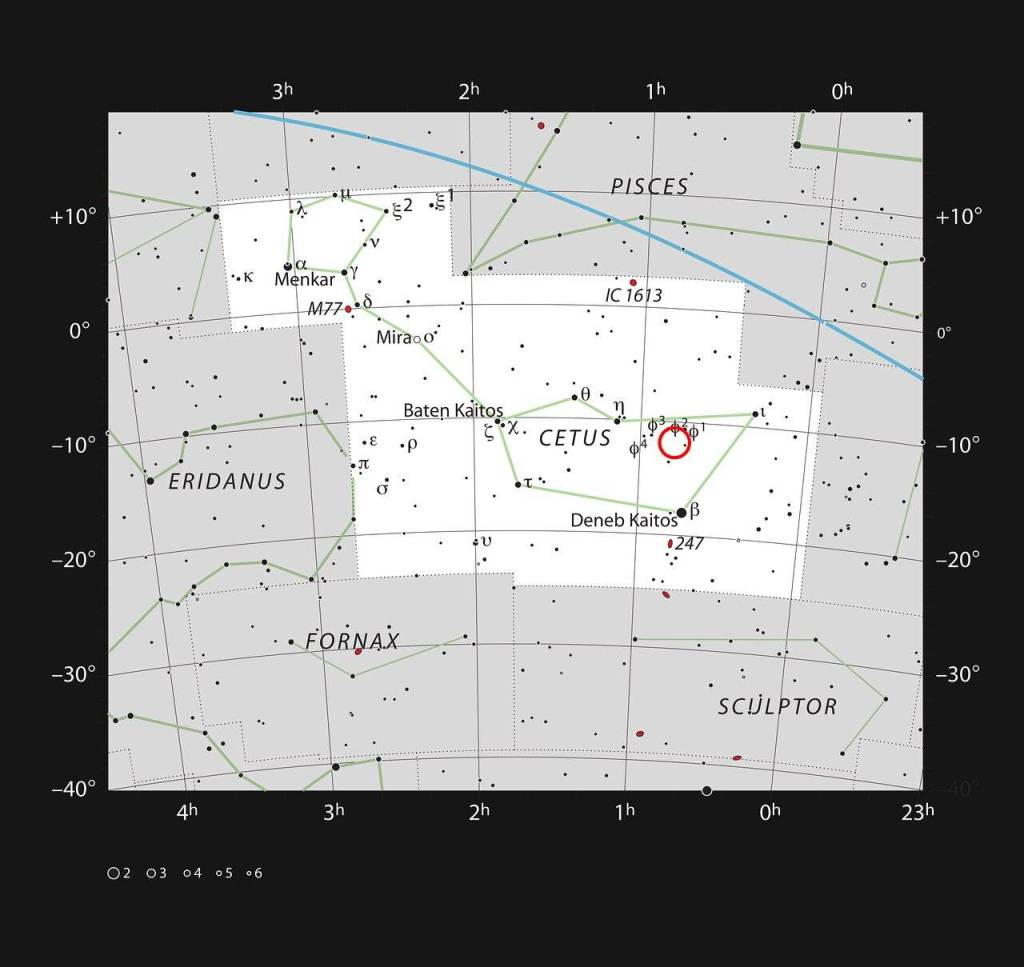 Ubicación de la Nebulosa Calavera