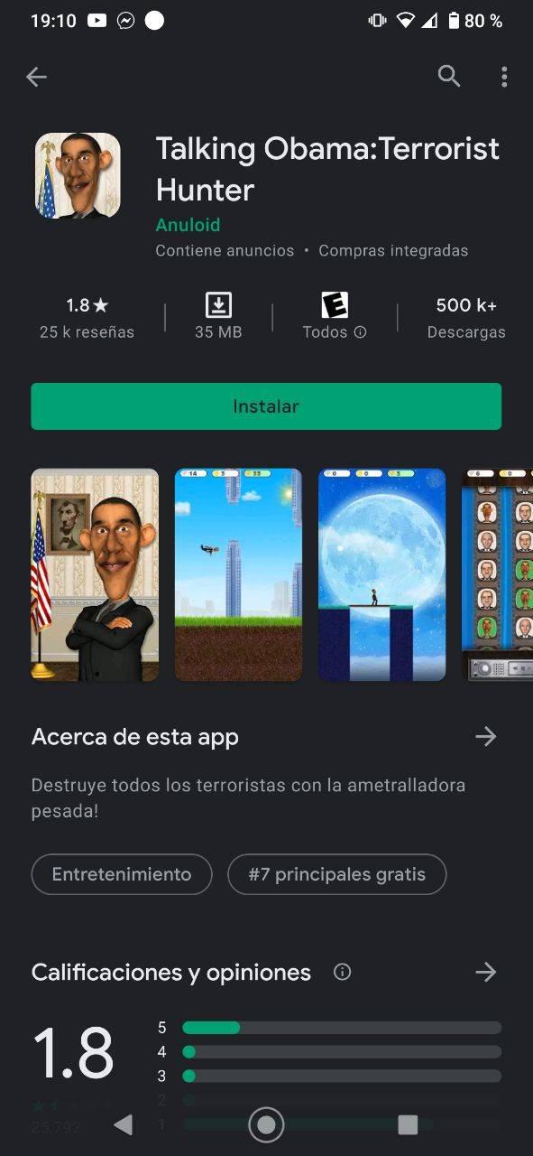 Talking Obama app peligro