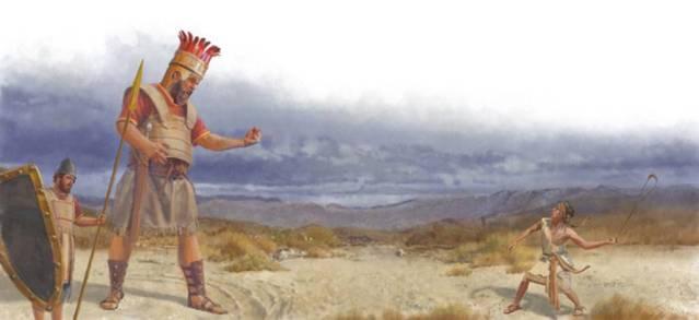 David y Goliat.