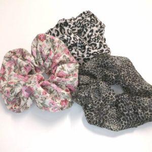 Scrunchies i 3-pack, leopard