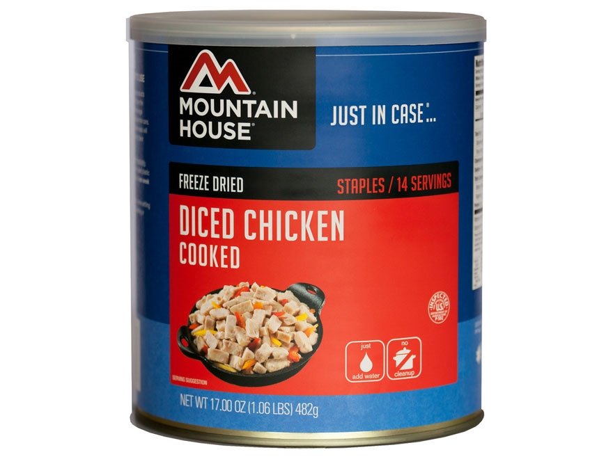 Mountain House 14 Serving Diced Chicken Freeze Dried Food