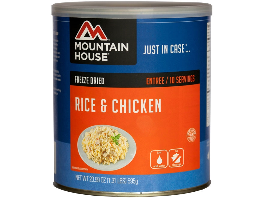 Mountain House 10 Serving Rice Chicken Freeze Dried Food